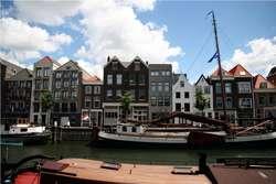 Fragment portu w Rotterdamie