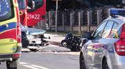 Wypadek na Warszawskiej. Ranny motocyklista w szpitalu