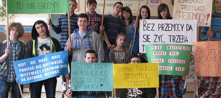 Dzień bez agresji w gimnazjum w Kinkajmach