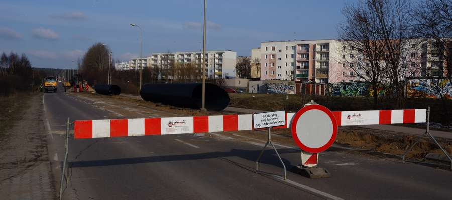 W poniedziałek (3 marca) rozpoczęto prace w połowie działdowskiej obwodnicy, na wysokości bloków