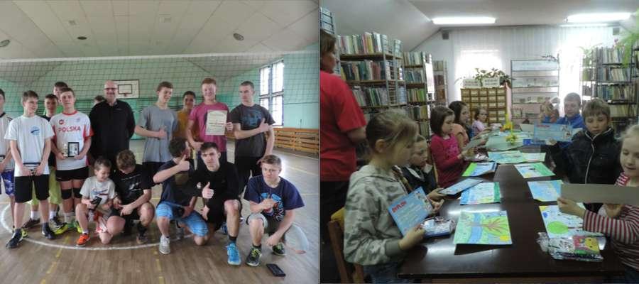 siatkarze z Sorkwit zwyciężyli  z Warpunami 3:1 Konkurs plastyczny dzieci wygrała Marika Krupińska