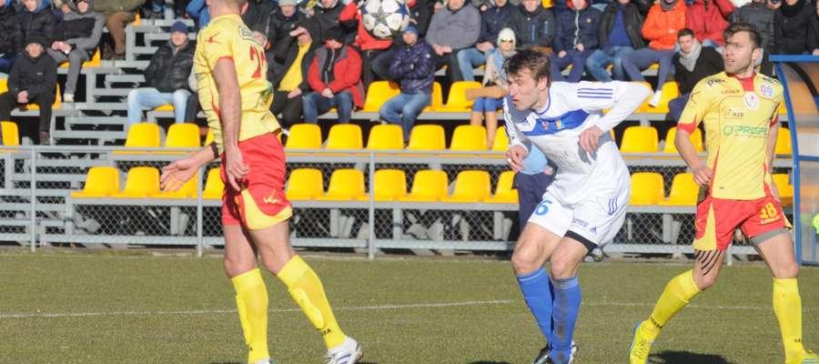 Anton Kołosow strzela bramkę na 1:0