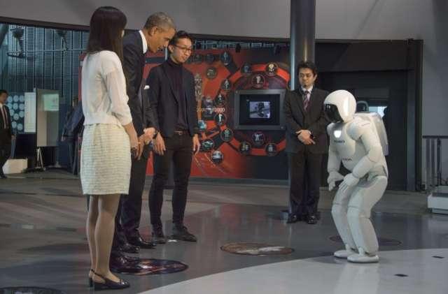 Barack Obama spotkał się z... robotem - full image