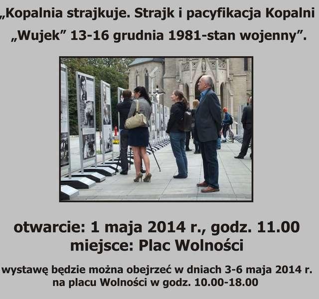 Wystawa o strajku w kopalni Wujek  - full image