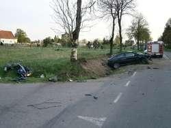 Sierpc. Opel staranował motorowerzystę