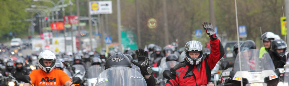 Motocykliści opanowali Olsztyn. Zobacz zdjęcia!
