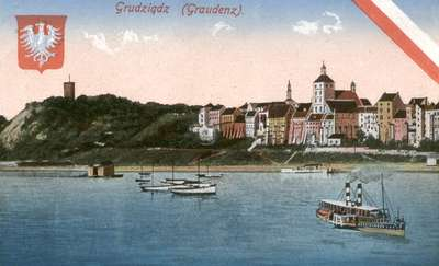 Panorama Grudziądza na pocztówce i w muzeum