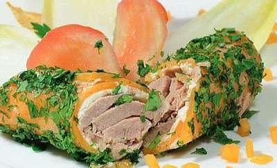 Roladki z tuńczykiem i kozim serem