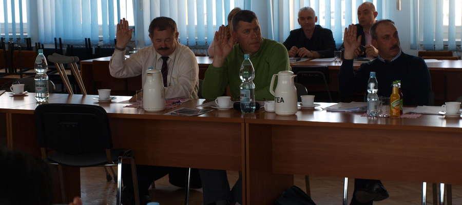 Marek Markowski (pierwszy z lewej) już zasiada w Radzie Miejskiej
