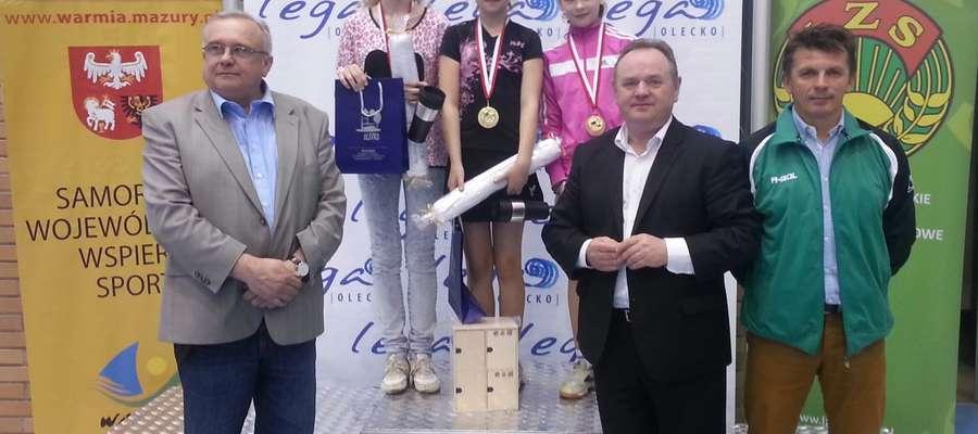 Julia Cieśniewska reprezentantka gminy Mrągowo obroniła tytuł Mistrzyni Województwa w tenisie stołowym