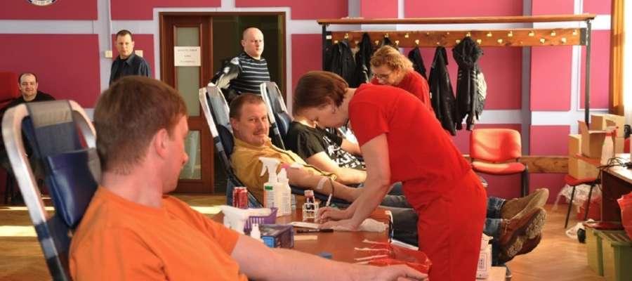 Podczas jednej z akcji poboru krwi w straży