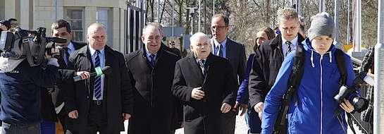 Jarosław Kaczyński odwiedził w sobotę Elbląg