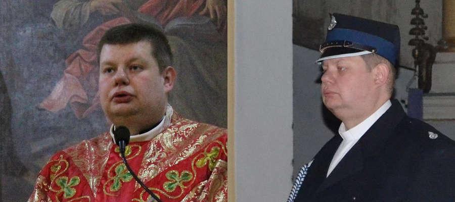 Ks. Łukasz Sadko jest strażakiem OSP w Bisztynku