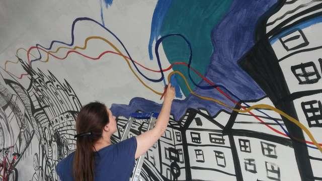 Nowy mural w tunelu przy Dworcu Zachodnim w Olsztynie - full image