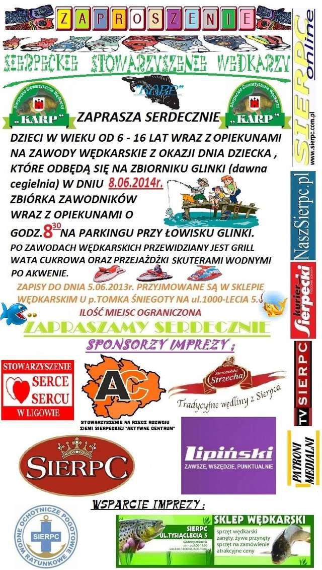 Zawody Wędkarskie na Dzień Dziecka - zaproszenie - full image