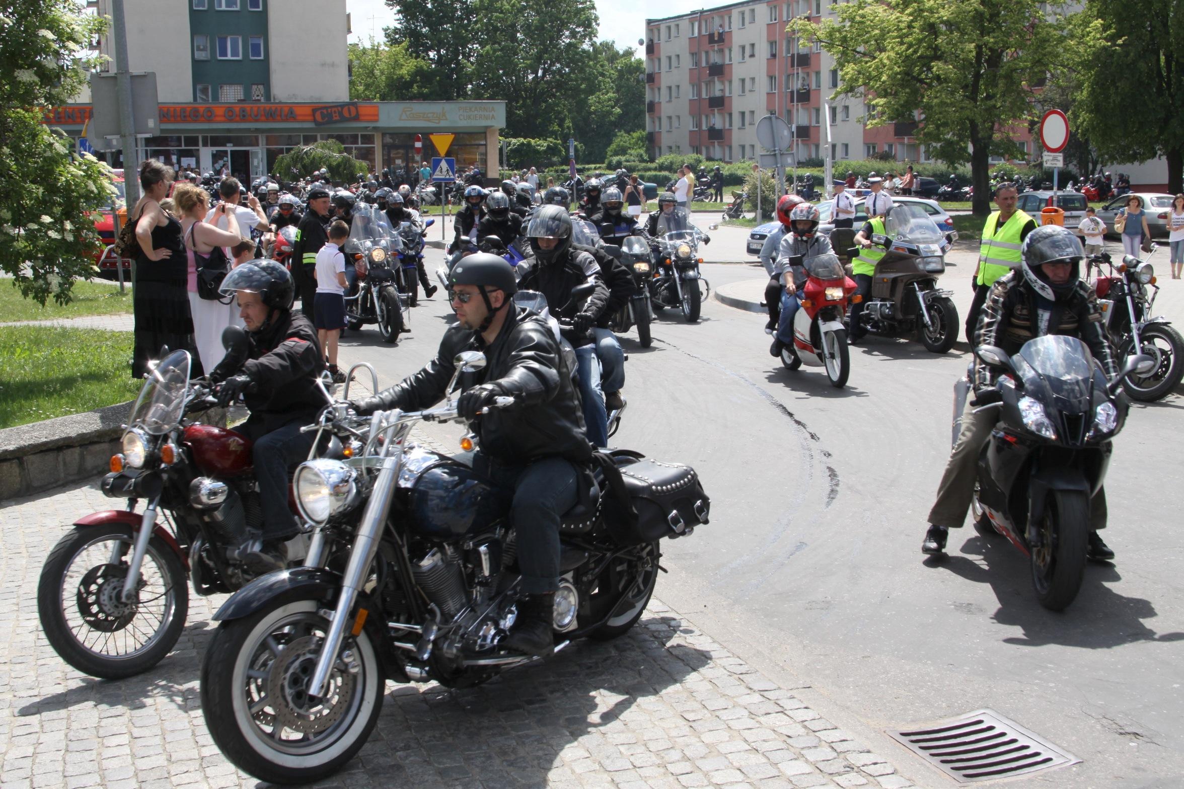 W ubiegłym roku motocykliści odwiedzili również Elbląg