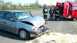 Kierowcy na szczęście nie odnieśli poważniejszych obrażeń