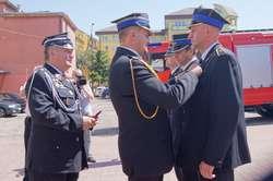 Strażacy tego dnia odbierali odznaczenia oraz awanse
