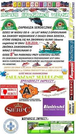 Zawody Wędkarskie na Dzień Dziecka - zaproszenie