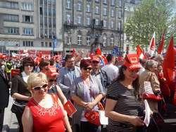 Delegacja SLD z Sierpca na obchodach Święta Pracy w Warszawie
