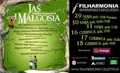 """Baśń dla małych i dużych — premiera """"Jasia i Małgosi"""" w Filharmonii Warmińsko-Mazurskiej"""
