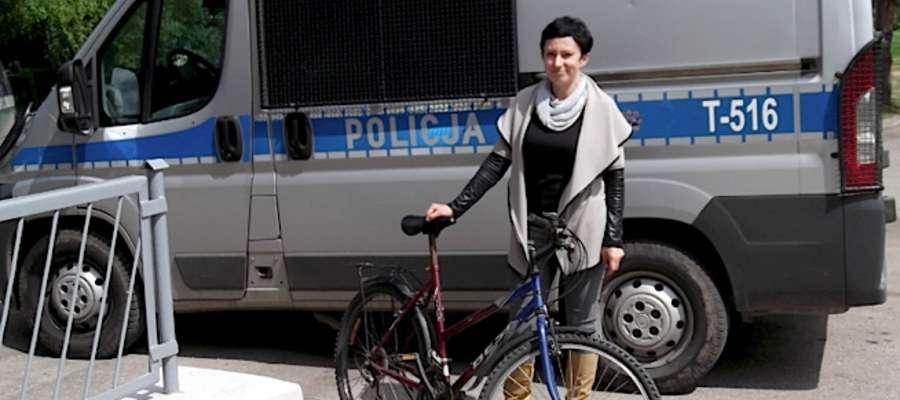 Katarzyna Rutkowska i odzyskany rower