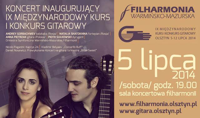 Koncert inaugurujący IX Międzynarodowy Kurs i Konkurs Gitarowy - full image