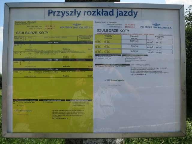 Na przystanku Szulborze-Koty będzie zatrzymywał się pociąg - full image