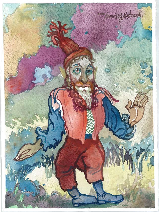 Krasnoludki i Sierotka Marysia — ilustracje do baśni Marii Konopnickiej - full image
