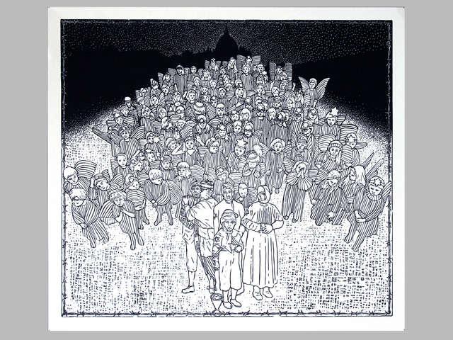 Grafika, malarstwo, rzeźba i instalacja — wernisaż w Starej Kotłowni - full image