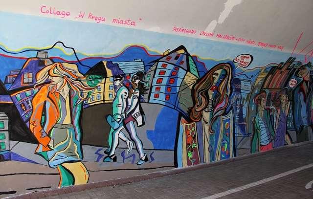 Mural W kręgu miasta już gotowy! Zobacz zdjęcia z tunelu - full image