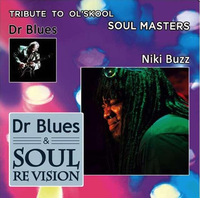 """fragment okładki do płyty """"Dr Blues – Triubte To Ol'Skool Masters"""" - full image"""