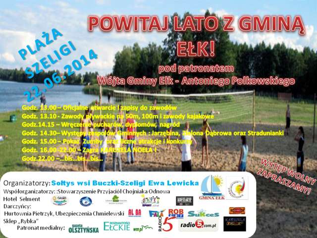 Powitaj lato z Gminą Ełk - zabawy i koncerty w Szeligach - full image