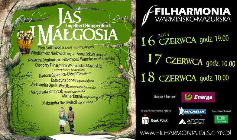 Jaś i Małgosia w Filharmonii Warmińsko-Mazurskiej