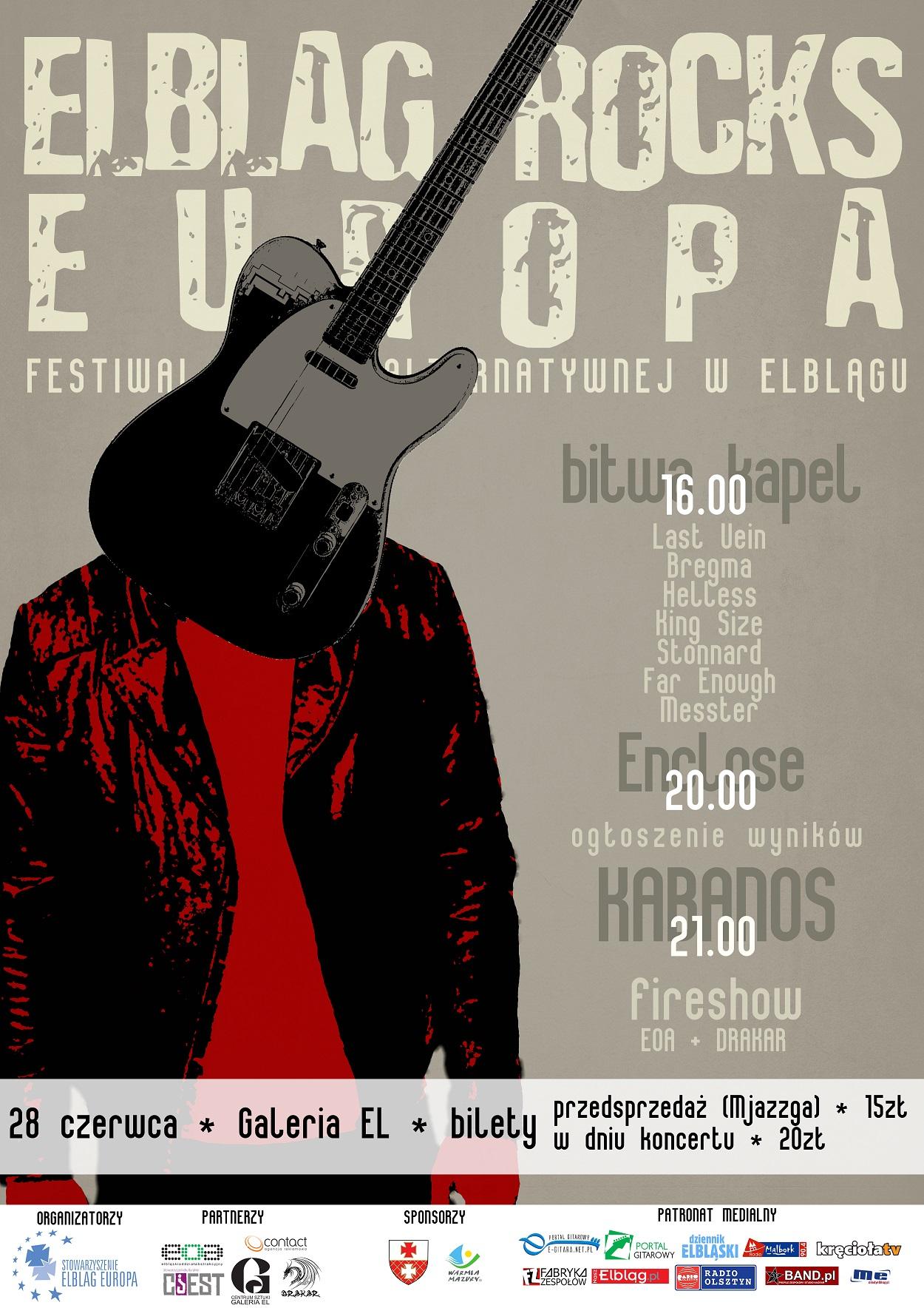 Już w sobotę festiwal Elbląg Rocks Europa
