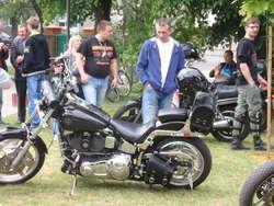 Chętnych do oglądania motocykli nie zabrakło