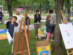 W Ogródku Jordanowskim dzieci mogły m.in. malować