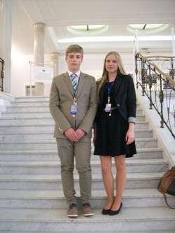 Podczas sesji Sejmu Dzieci i Młodzieży nie zabrakło reprezentantów Ostrowi