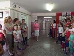 Podczas dnia otwartego nie zabrakło dzieci razem z rodzicami