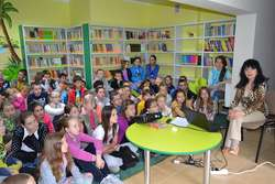 Spotkanie było bardzo ciekawe dla dzieci i mieszkańców gminy