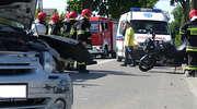 Ranny motocyklista przewieziony do szpitala