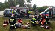 Wypadek na skrzyżowaniu Wojska Polskiego i M.C. Skłodowskiej w Iławie