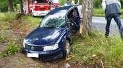 Volkswagen uderzył w drzewo. Jedna osoba ranna