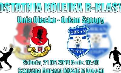 Ostatni w sezonie mecz Unii Olecko
