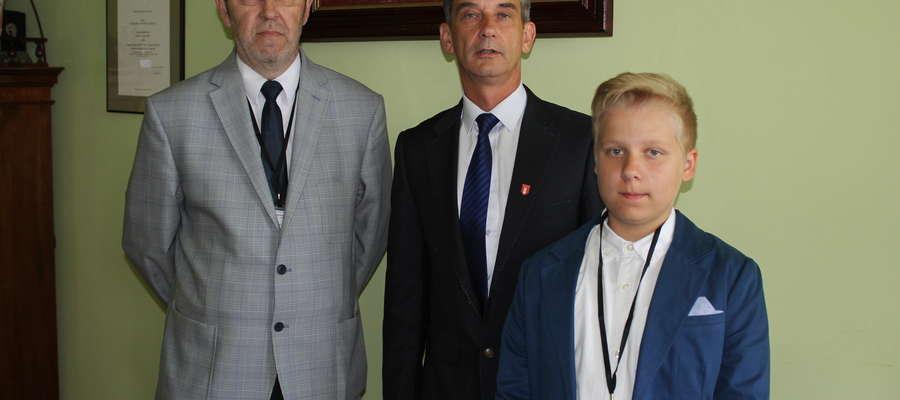 Starostowie odwiedzili burmistrza Bieżunia