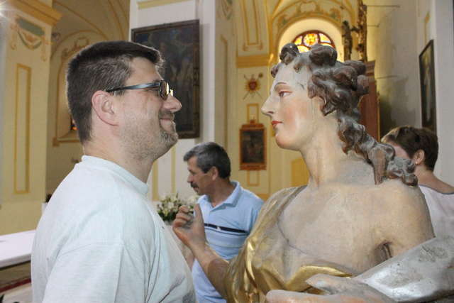 Anioły z kościoła w Bisztynku pojechały do Torunia - full image