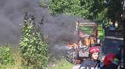 Ciągnik stanął w płomieniach