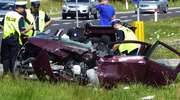 Wypadek na DK 7 w Ostródzie. 74-latek wjechał pod ciężarówkę