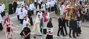 Odpust w Lipach - procesja i msza święta