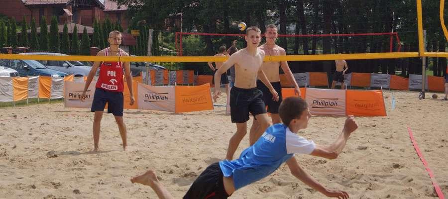 Kadr z turnieju rozegranego w Rybnie na początku lipca
